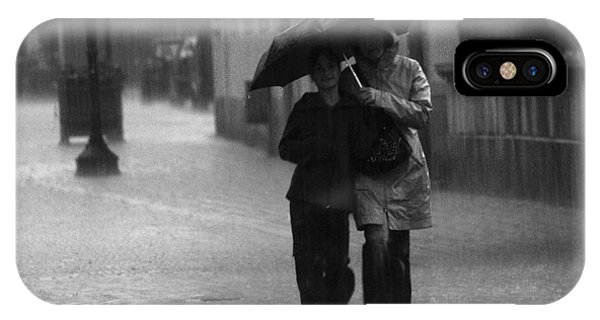Walking In The Rain IPhone Case