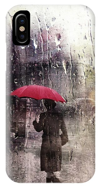 Walking In The Rain Somewhere IPhone Case