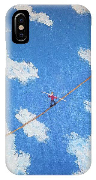 Walking The Line IPhone Case