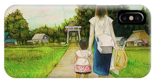 Walking To The Shrine IPhone Case