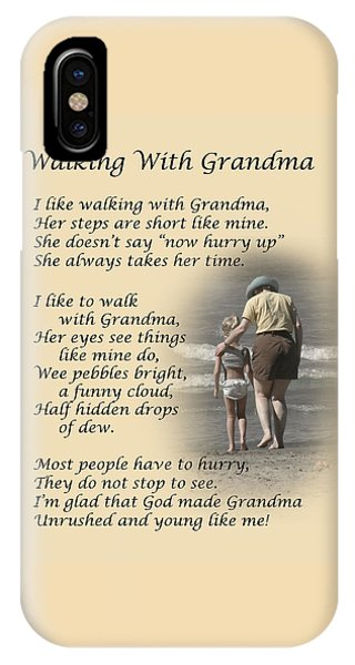 Walking With Grandma IPhone Case