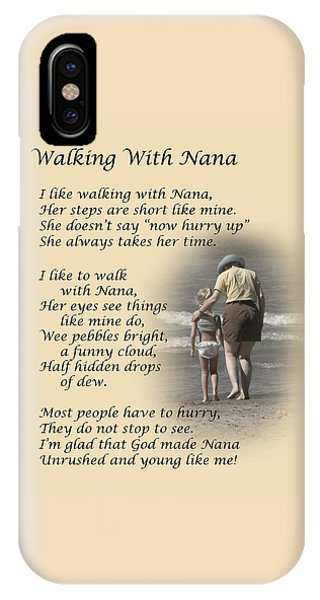 Walking With Nana IPhone Case