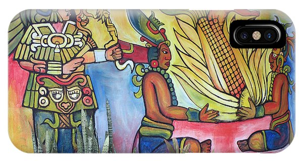Wall Painting In A Mexican Village IPhone Case
