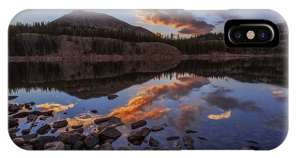 Serenity iPhone Case - Wall Reflection by Chad Dutson