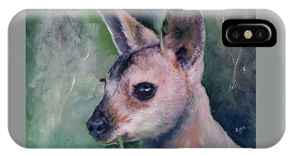 Wallaby Grazing IPhone Case