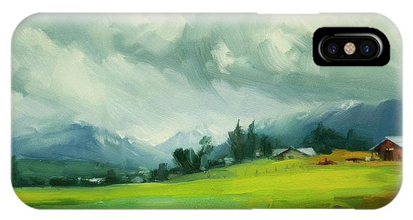 Ranch iPhone Case - Wallowa Valley Storm by Steve Henderson