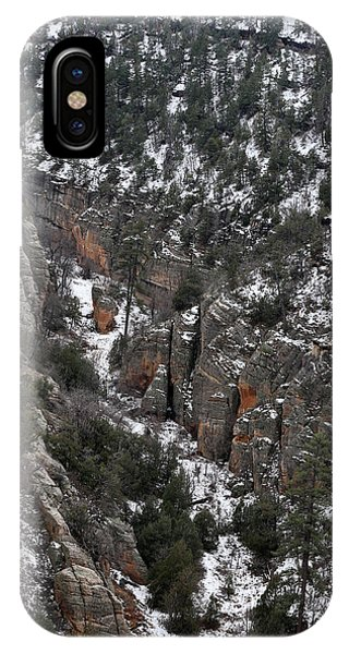 Walnut Canyon In Flagstaff In Winter 4 IPhone Case