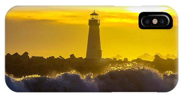 Navigation iPhone Case - Walton Lighthouse At Sunset by Garry Gay