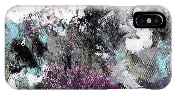 Grey Skies iPhone Case - Wanderlust- Abstract Art By Linda Woods by Linda Woods