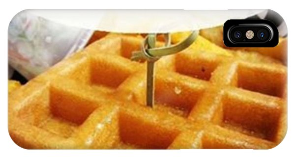 Motivational iPhone Case - Wanna Be Like A Waffle Or A Pancake? by Stephanie Low