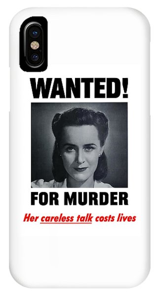 For iPhone Case - Housewife Wanted For Murder - Ww2 by War Is Hell Store