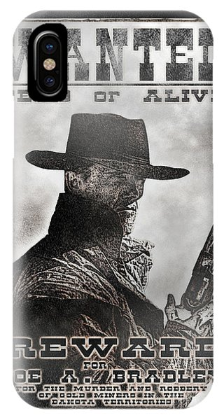 Wanted Poster Notorious Outlaw IPhone Case