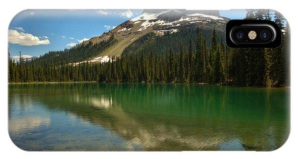 Rocky Mountain Np iPhone Case - Wapta Mountain In Yoho Lake by Adam Jewell