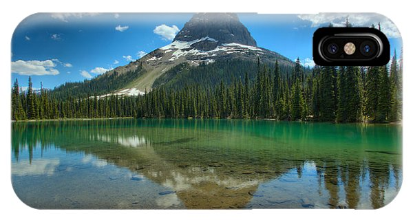 Rocky Mountain Np iPhone Case - Wapta Mountain Reflections by Adam Jewell