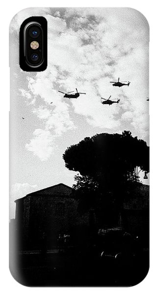 War Helicopters Over The Imperial Fora IPhone Case