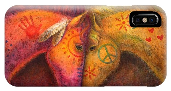 Animal iPhone Case - War Horse And Peace Horse by Sue Halstenberg