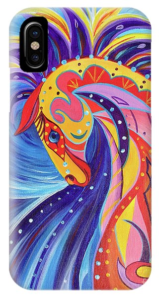 IPhone Case featuring the painting War Horse by Nancy Cupp