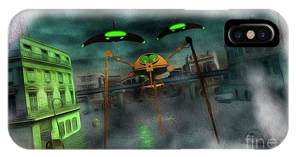 Well Being iPhone Case - War Of The Worlds Part 1 by Raphael Terra