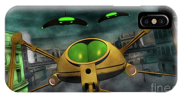 Well Being iPhone Case - War Of The Worlds Part 2 by Raphael Terra