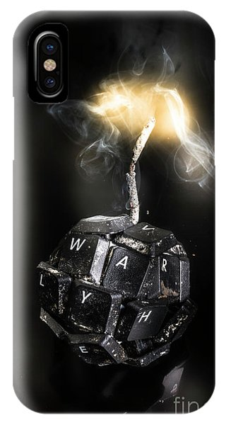 Explosion iPhone X Case - War On Information by Jorgo Photography - Wall Art Gallery
