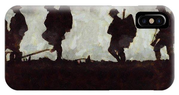 Wwi iPhone Case - War Walk by Esoterica Art Agency
