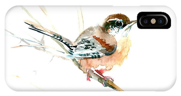 Warbler Songbird Art  IPhone Case