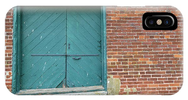 Warehouse Loading Door And Brick Wall IPhone Case