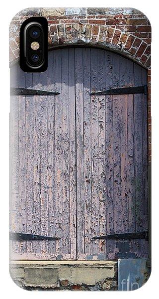 Warehouse Wooden Door IPhone Case