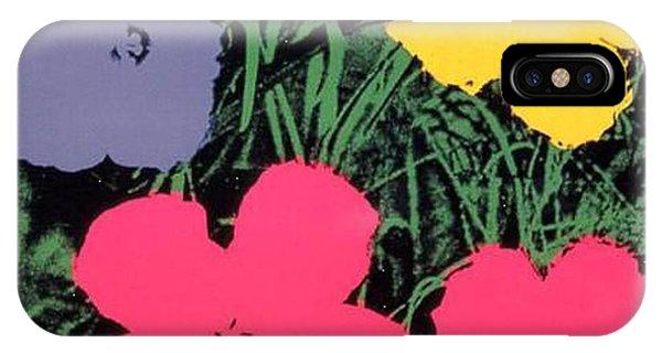 iPhone Case - Warhol - Flowers 4 Andy Warhol by Eloisa Mannion