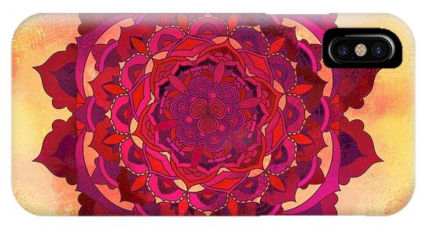 Buddhism iPhone Case - Warm Autumn Mandala by Thubakabra