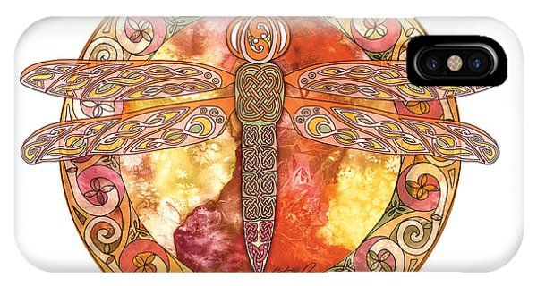 Warm Celtic Dragonfly IPhone Case