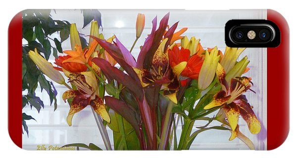 IPhone Case featuring the photograph Warm Colored Flowers by Elly Potamianos