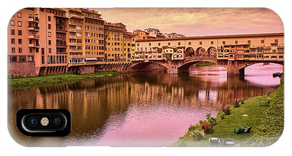 Sunset At Ponte Vecchio In Florence, Italy IPhone Case