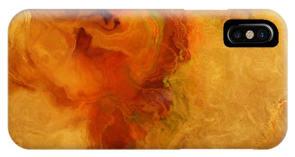 IPhone Case featuring the painting Warm Embrace - Abstract Art by Jaison Cianelli
