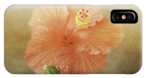 IPhone Case featuring the photograph Warm Hibiscus by Judy Hall-Folde