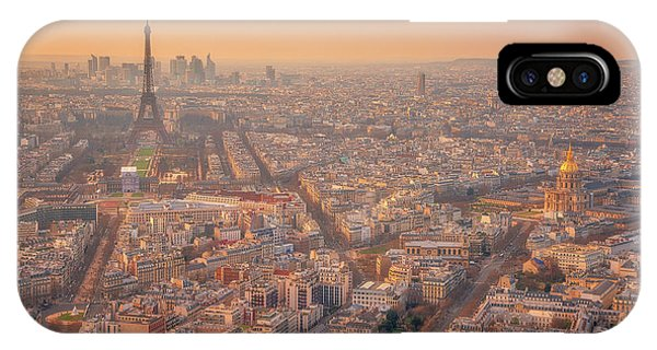 IPhone Case featuring the photograph Warm Paris Sunset by Darren White