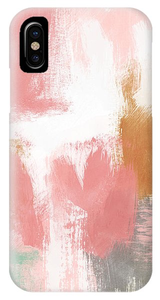 Pink iPhone Case - Warm Spring- Abstract Art By Linda Woods by Linda Woods