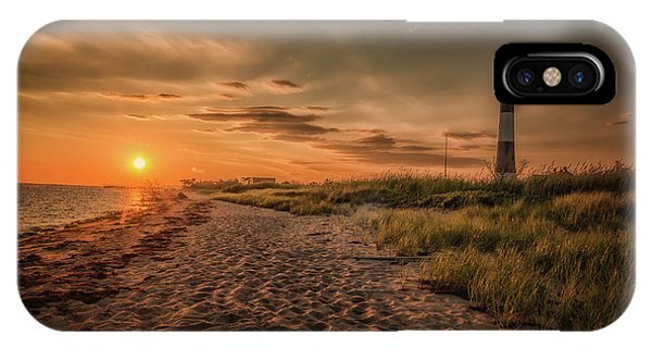 Warm Sunrise At The Fire Island Lighthouse IPhone Case