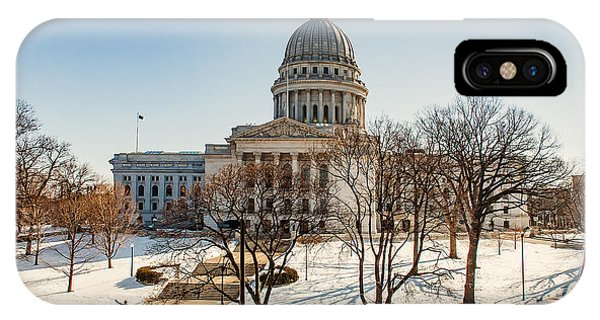 Capitol Building iPhone Case - Warm Winter Capitol by Todd Klassy