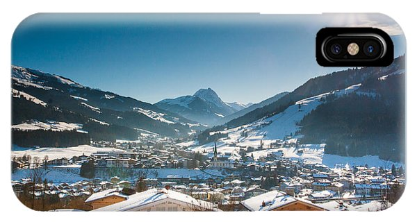 Warm Winter Day In Kirchberg Town Of Austria IPhone Case