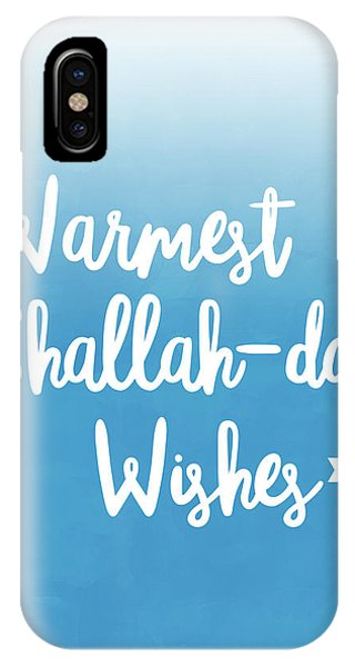 Jewish Humor iPhone Case - Warmest Challah Day Wishes- Art By Linda Woods by Linda Woods