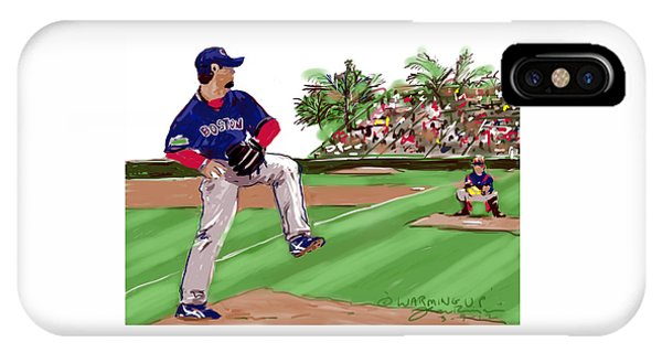 Grapefruit League iPhone Case - Warming Up by Jean Pacheco Ravinski