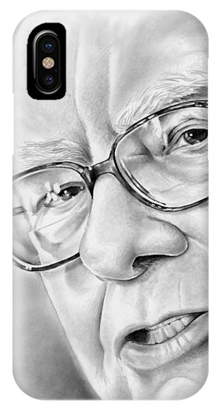 Wizard iPhone X / XS Case - Warren Buffett by Greg Joens