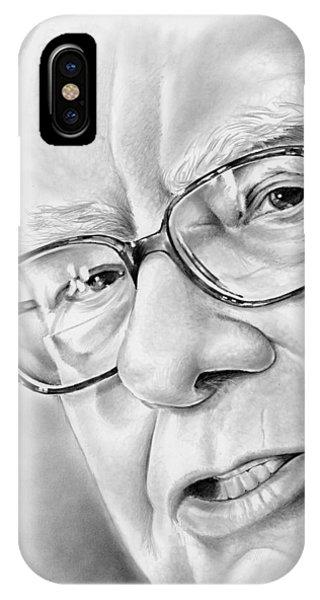 Wizard iPhone Case - Warren Buffett by Greg Joens