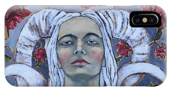 Portrait iPhone Case - Warrior by Jane Spakowsky