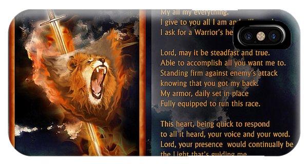 Warrior's Heart Poetry IPhone Case