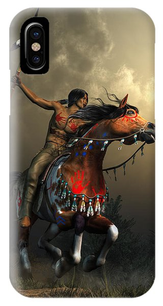 IPhone Case featuring the digital art Warriors Of The Plains by Daniel Eskridge