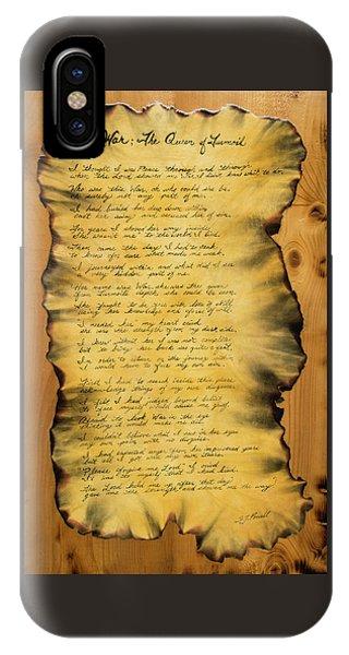 War's Poem IPhone Case