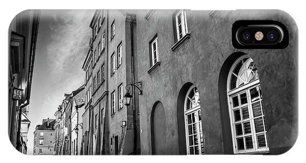 Warsaw Street In Black And White  IPhone Case