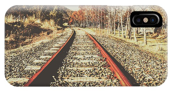 Train Tracks iPhone Case - Washed Out Lines by Jorgo Photography - Wall Art Gallery